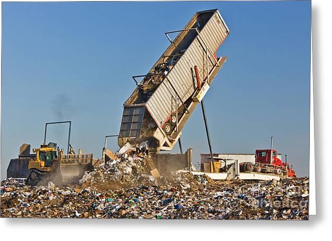 Landfill Greeting Card by Inga Spence