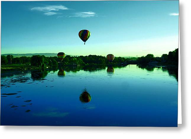 Landing In The River Greeting Card