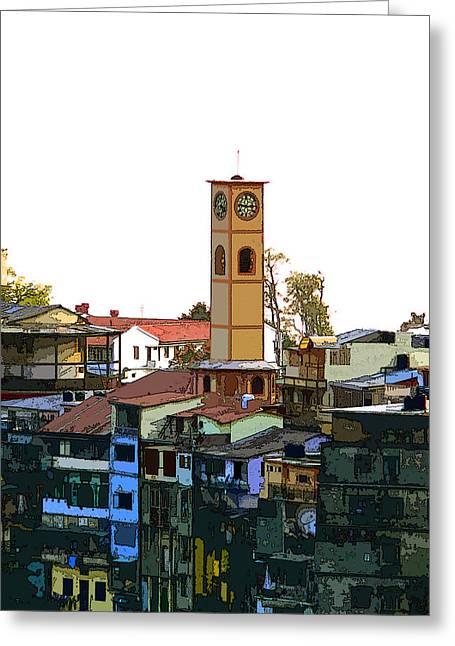 Landour Clock Tower Greeting Card