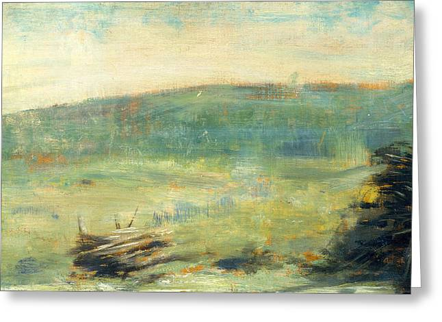 Landscape At Saint-ouen Greeting Card