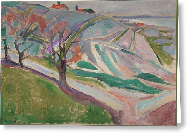 Landscape, Kragero Greeting Card by Edvard Munch
