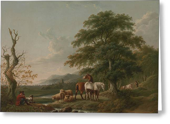 Landscape With A Shepherd Greeting Card