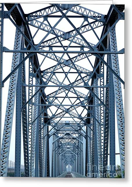 Large Old Railway Bridge Greeting Card by Yali Shi