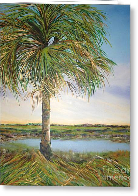 Large Palm Greeting Card by Michele Hollister - for Nancy Asbell