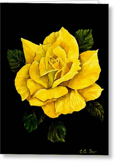 Large Yellow Rose Greeting Card