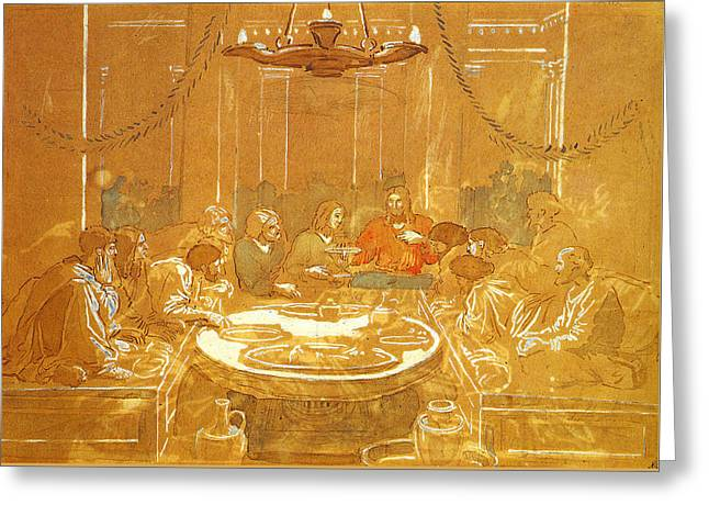 Last Supper Greeting Card by Alexandr Ivanov