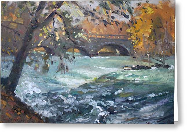 Late Afternoon By Niagara River Greeting Card by Ylli Haruni