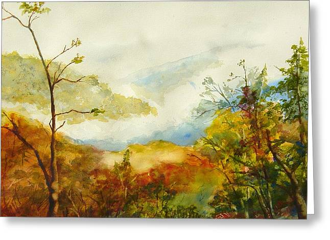 Laurel Thicket Overlook Greeting Card by Kris Dixon