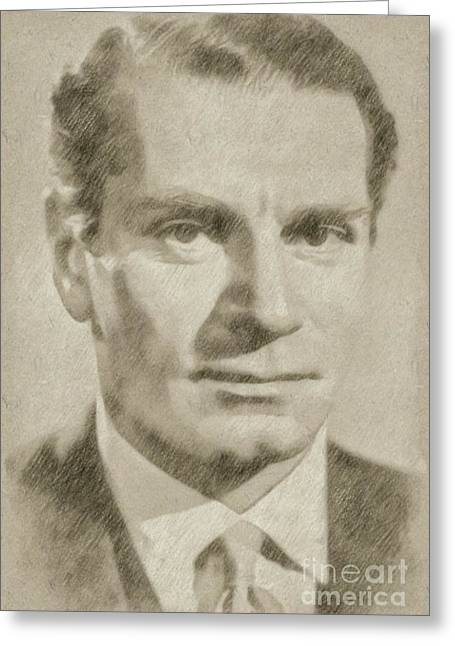 Laurence Olivier Hollywood And British Actor Greeting Card by Frank Falcon