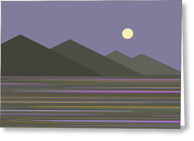 Greeting Card featuring the digital art Lavender Sky  Reflections by Val Arie