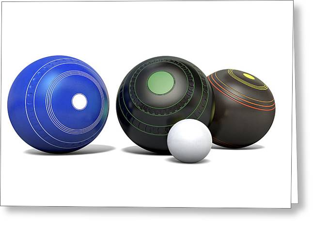 Lawn Bowls And Jack Greeting Card