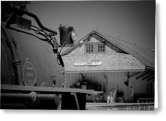 Laws Depot And Locomotive 9 Greeting Card