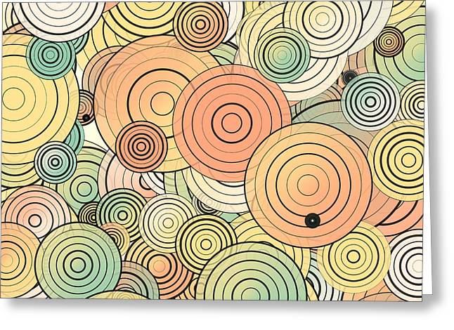 Layered Circles Greeting Card by Gaspar Avila