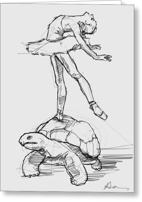 Le Roi De Tortue Greeting Card by H James Hoff