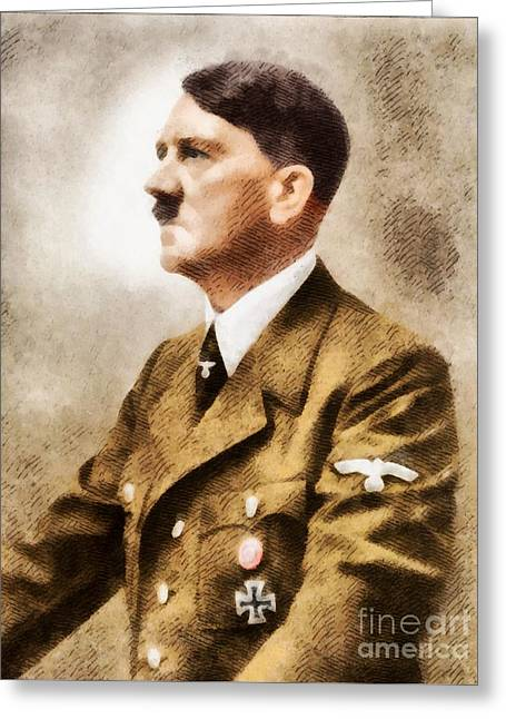 Leaders Of Wwii - Adolf Hitler Greeting Card