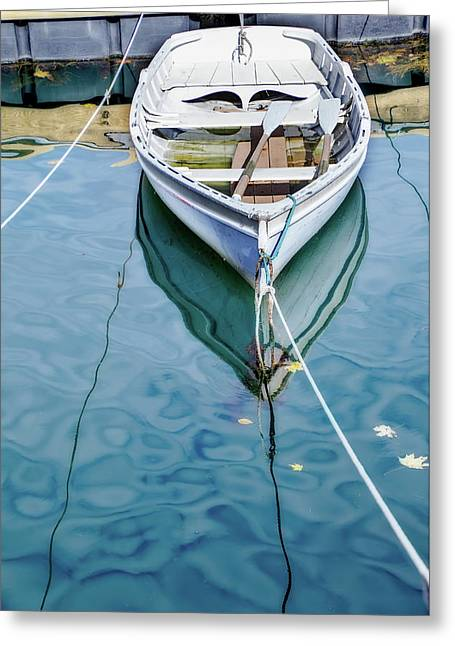 Leading Lines On Water Greeting Card