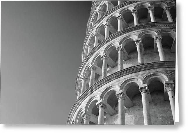Leaning Tower Of Pisa Greeting Card by Richard Goodrich