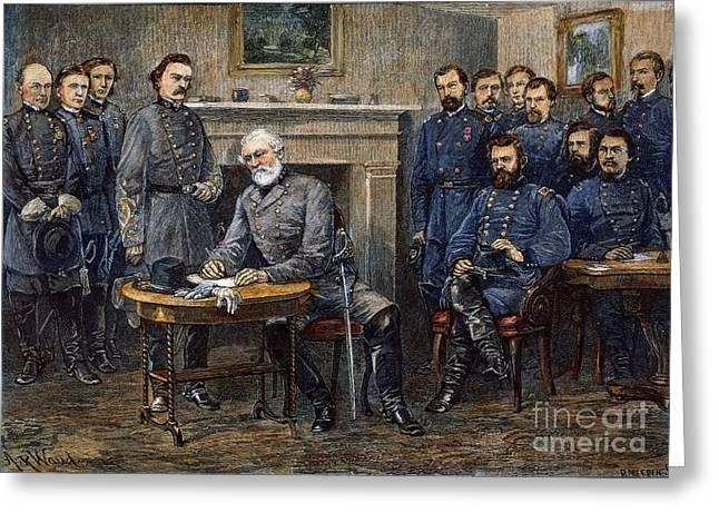 Lees Surrender, 1865 Greeting Card by Granger