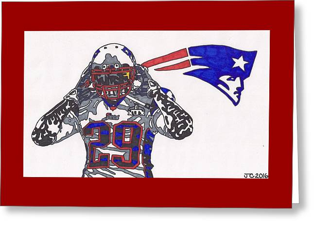 Legarrette Blount  Greeting Card by Jeremiah Colley