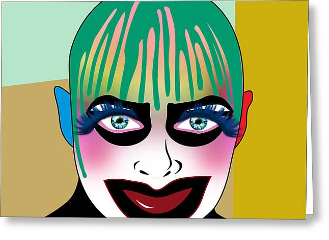 Leigh Bowery 5 Greeting Card by Mark Ashkenazi