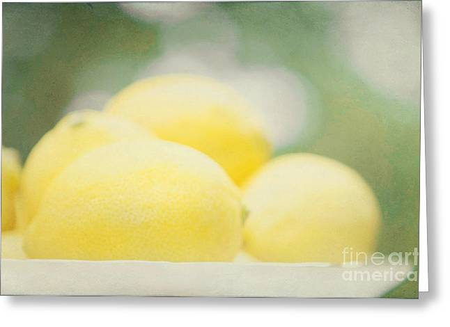 Lemon Art Greeting Cards - Lemons Greeting Card by Kim Fearheiley