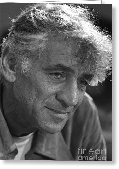 Leonard Bernstein, American Composer Greeting Card by Science Source