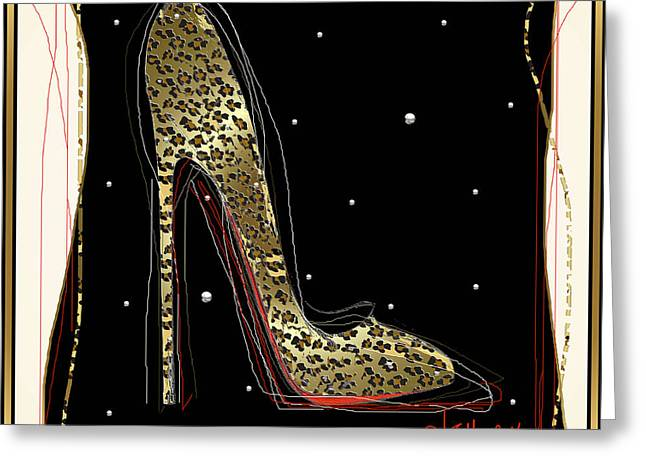 Leopard Louboutin Greeting Card