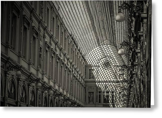 Les Galeries Royales Saint-hubert Greeting Card by Chris Fletcher