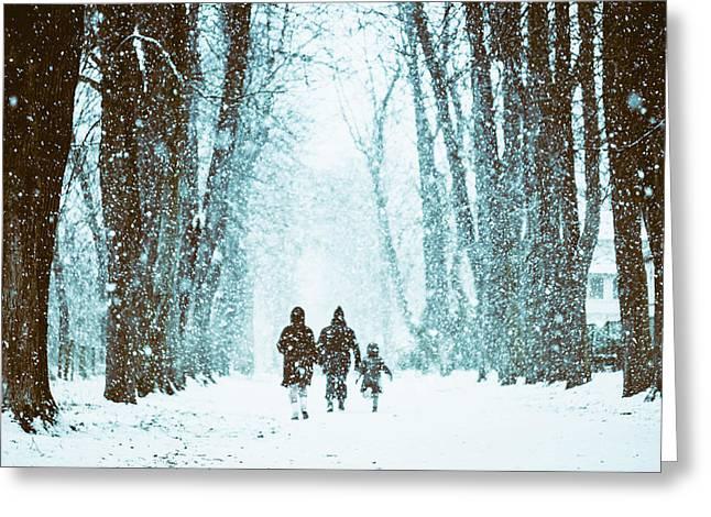 Let It Snow Greeting Card by Marji Lang