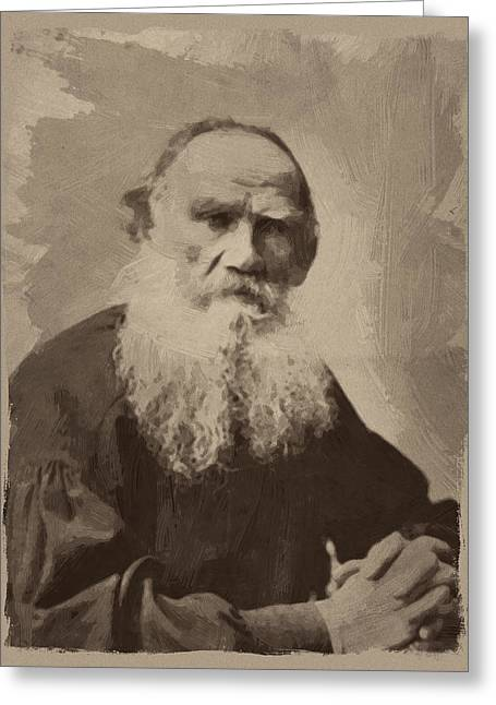 Leo Tolstoy Greeting Card