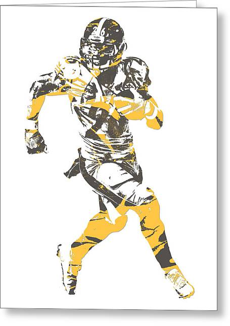 Leveon Bell Pittsburgh Steelers Pixel Art 20 Greeting Card