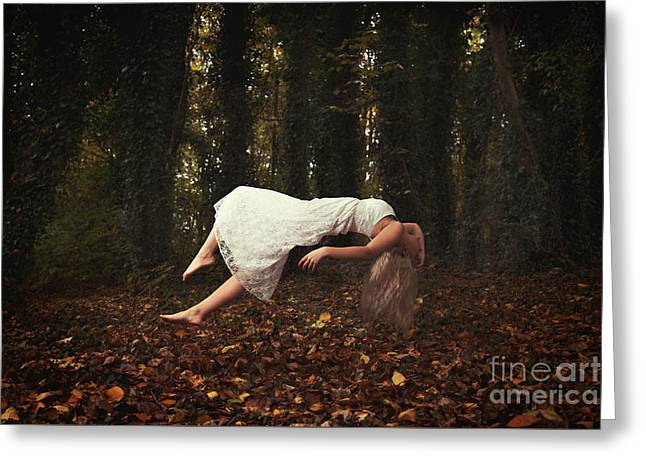 Levitate Greeting Card by Amanda Elwell