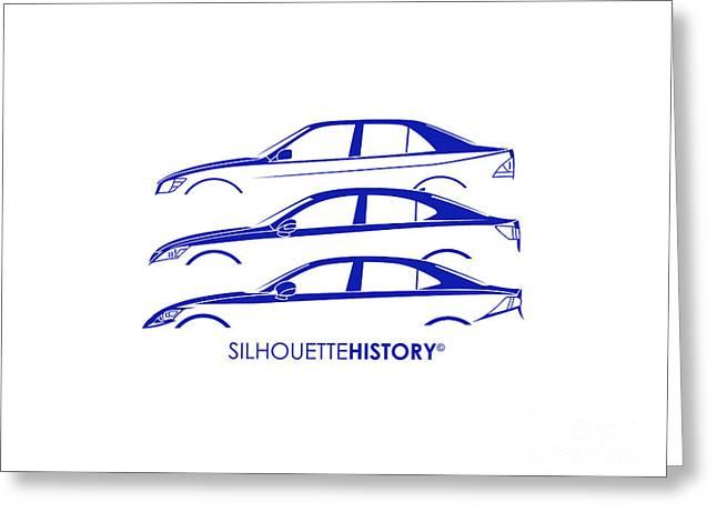 Lexury Silhouettehistory Greeting Card