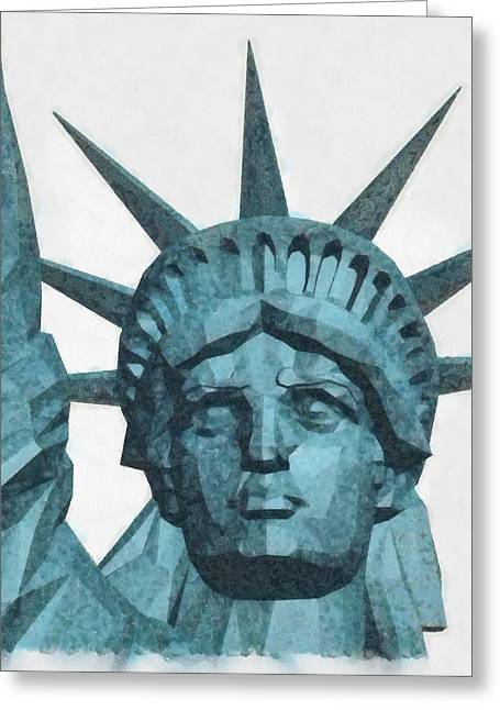 Liberty By Pierre Blanchard Greeting Card
