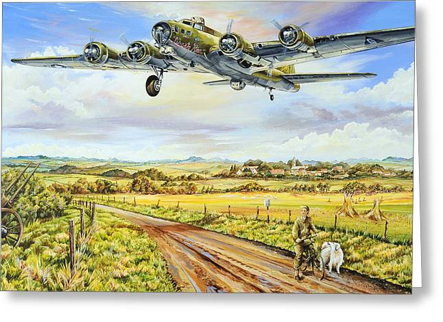 Landing Airplane Greeting Cards - Liberty Run Greeting Card by Charles Taylor