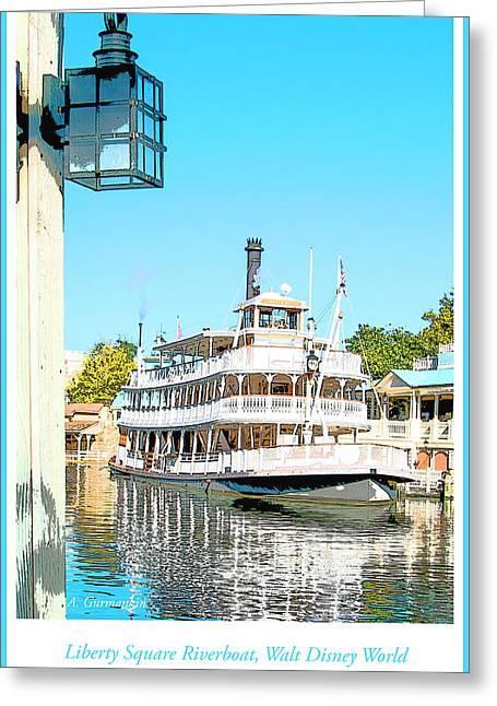 Liberty Square Riverboat, Magic Kingdom, Walt Disney World Greeting Card