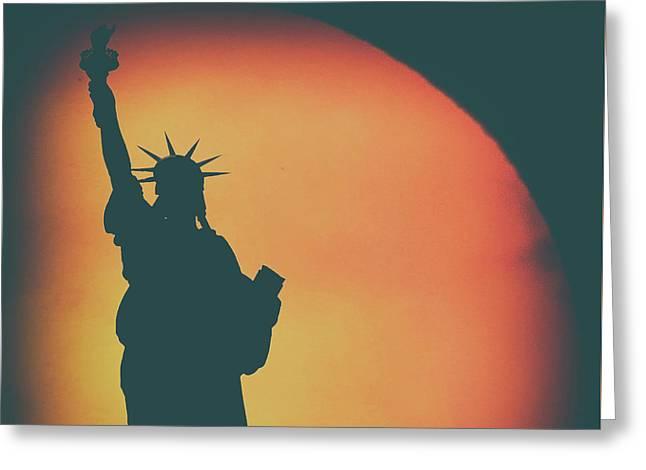 Liberty Sunset Greeting Card