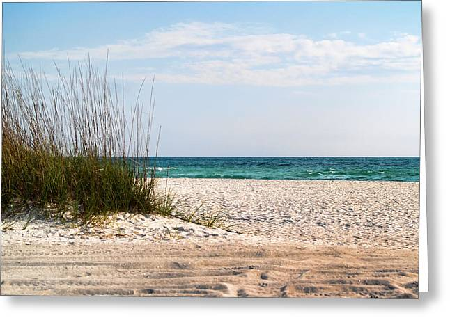 Greeting Card featuring the photograph Lido Beach by Athala Carole Bruckner