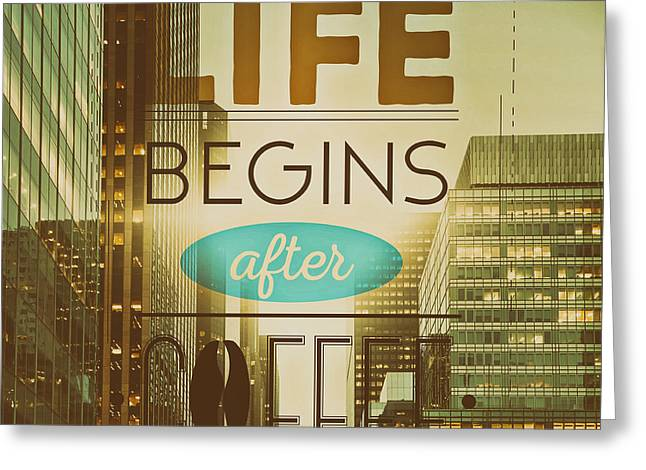 Wake Up To Life Greeting Cards - Life Begins After Coffee Greeting Card by Alexas Fotos