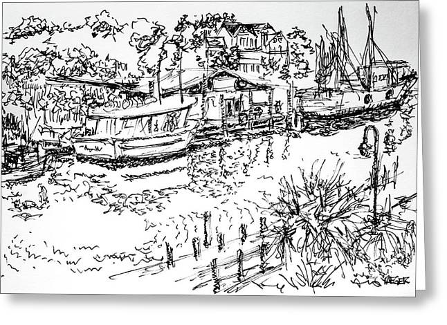 Life On The Water  Greeting Card by Robert Yaeger