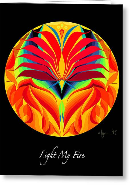 Light My Fire Greeting Card