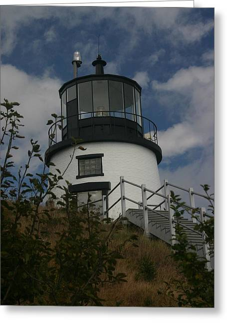 Lighthouse Greeting Card by Dennis Curry