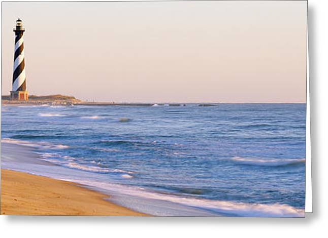 Lighthouse On The Beach, Cape Hatteras Greeting Card by Panoramic Images