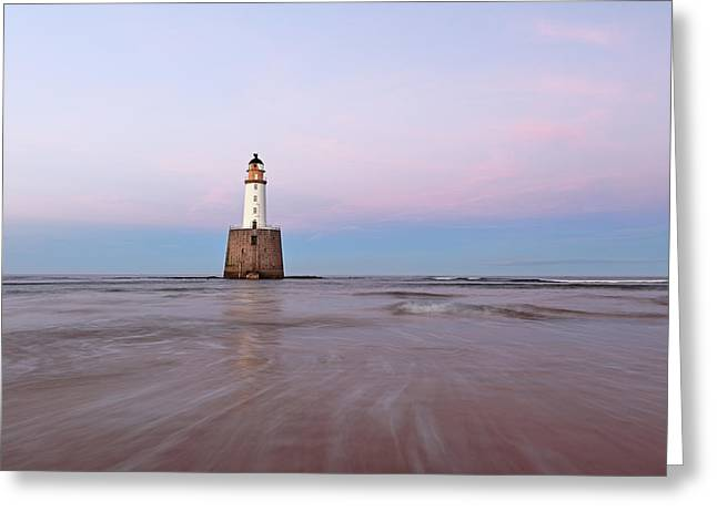 Greeting Card featuring the photograph Lighthouse Sunset by Grant Glendinning