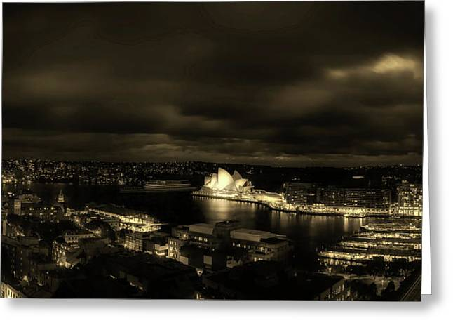Lights Of Sydney Greeting Card by Craig Hiron