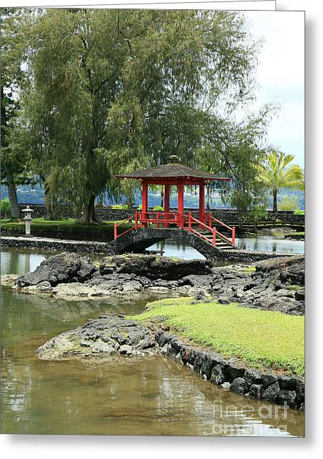 Liliuokalani Gardens Greeting Card by Peter French - Printscapes