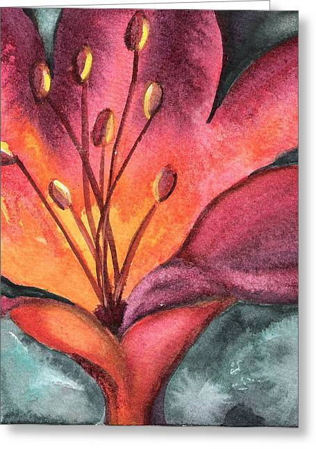 Lily Blaze Greeting Card