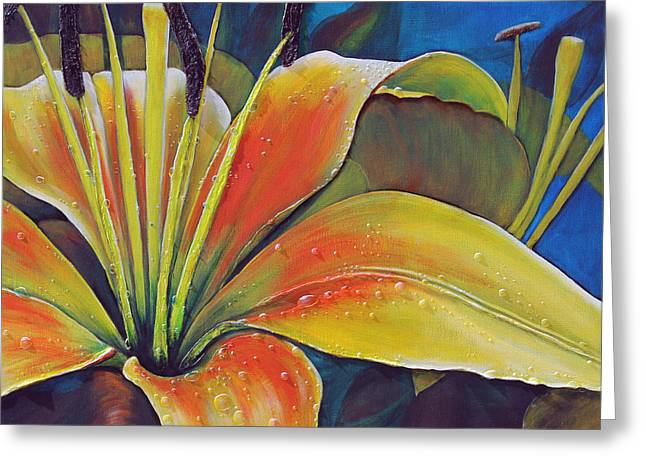 Lily Dew Greeting Card by Patricia Pasbrig