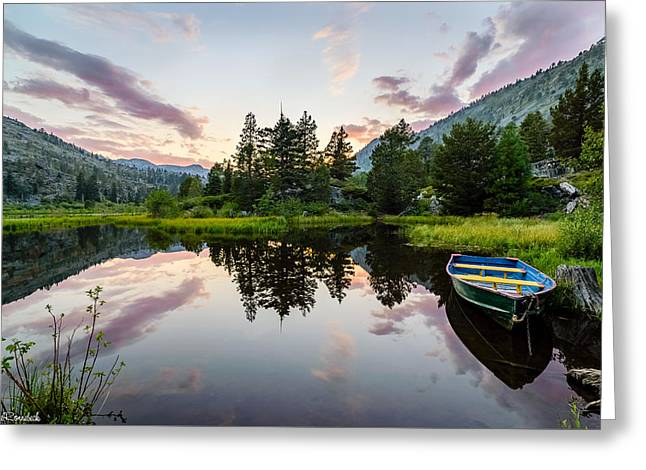 Lily Lake Greeting Card by Mike Ronnebeck