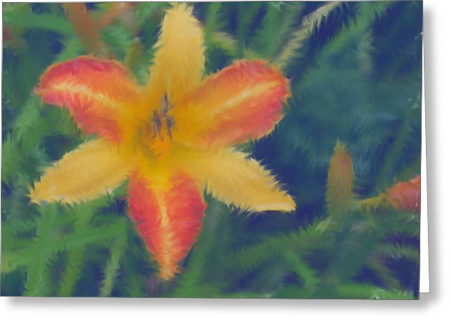 Lily Greeting Card by Lisa Hebert